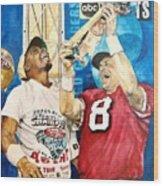Super Bowl Legends Wood Print by Lance Gebhardt
