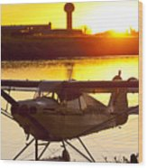 Super Cub At The End Of The Day Wood Print by Tim Grams
