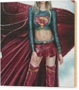 Supergirl Wood Print by Brendon Larimore