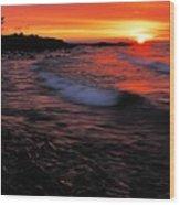 Superior Sunrise 2 Wood Print by Larry Ricker