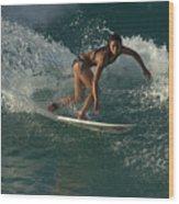 Surfer Girl Wood Print by Brad Scott