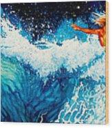 Surfer Girl Wood Print by Hanne Lore Koehler