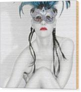 Survivor - Self Portrait Wood Print by Jaeda DeWalt