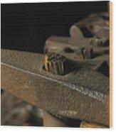 Swag Hammers Wood Print by Wilma  Birdwell