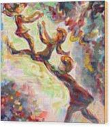 Swinging High Wood Print by Naomi Gerrard