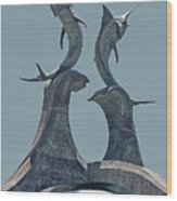 Swordfish Sculpture Wood Print by DigiArt Diaries by Vicky B Fuller