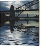 Sydney Harbour Bridge Reflection Wood Print by Avalon Fine Art Photography