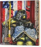 Symbols Of Heroism Wood Print by Paul Walsh