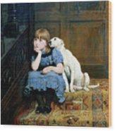 Sympathy Wood Print by Briton Riviere