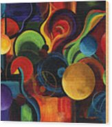 Synergy Wood Print by Laura Swink