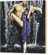 Tango Cascade Wood Print by Richard Young