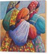 Tarahumara Women Wood Print by Candy Mayer