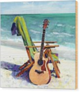 Taylor At The Beach Wood Print by Andrew King