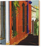 Terracotta House On The Hill Wood Print by Mexicolors Art Photography