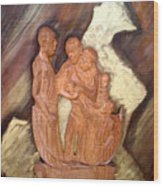 Thanks Wood Print by Emmanuel Baliyanga