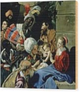 The Adoration Of The Kings Wood Print by Fray Juan Batista Maino