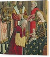 The Adoration Of The Magi Wood Print by Absolon Stumme