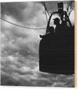 The Adventure Begins  Hot Air Balloon Wood Print by Bob Orsillo