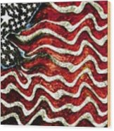 The American Flag Wood Print by Mimo Krouzian