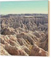 The Badlands Wood Print by Brent Parks