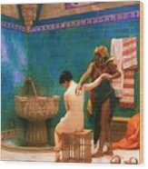 The Bath Wood Print by Pg Reproductions