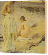 The Bathers Wood Print by Anders Leonard Zorn