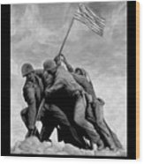 The Battle For Iwo Jima By Todd Krasovetz Wood Print by Todd Krasovetz