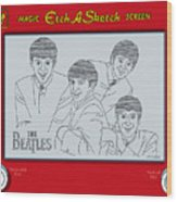 The Beatles Wood Print by Ron Magnes