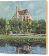 The Cathedral At Auxerre Wood Print by Gustave Loiseau