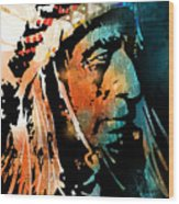 The Chief Wood Print by Paul Sachtleben