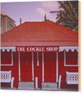 The Cockle Shop Wood Print by Shaun Higson