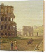 The Colosseum Wood Print by John Inigo Richards