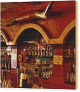 The Cowboy Club Bar In Sedona Arizona Wood Print by David Patterson