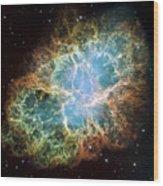 The Crab Nebula Wood Print by Stocktrek Images