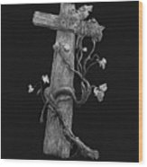 The Cross And The Vine Wood Print by Jyvonne Inman
