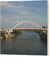 The Cumberland River In Nashville Wood Print by Susanne Van Hulst