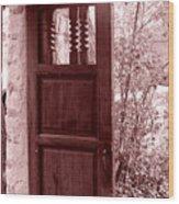 The Door Wood Print by Wayne Potrafka