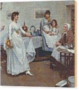 The Dress Rehearsal Wood Print by Albert Chevallier Tayler