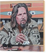 The Dude Wood Print by Tom Roderick