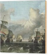The Dutch Fleet Of The India Company Wood Print by Ludolf Backhuysen