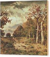The Edge Of The Forest Wood Print by Narcisse Virgile Diaz de la Pena