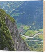 The Edge Of The Precipice Wood Print by Hideaki Sakurai