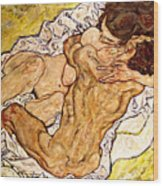The Embrace Wood Print by Egon Schiele