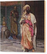 The Emir Wood Print by Ludwig Deutsch