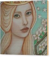 The Empress Wood Print by Tammy Mae Moon