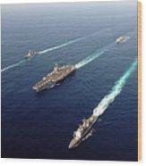 The Enterprise Carrier Strike Group Wood Print by Stocktrek Images