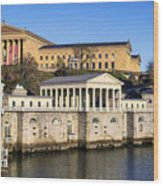 The Fairmount Water Works And Art Museum Wood Print by John Greim