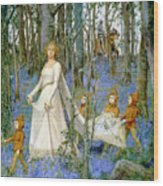 The Fairy Wood Wood Print by Henry Meynell Rheam