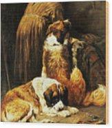 The Faith Of Saint Bernard Wood Print by John Emms