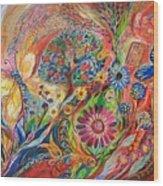 The Flowers And Trees Wood Print by Elena Kotliarker